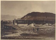 V�stavba �elezni�n�ho mostu cez V�h v Liptovskom hr�dku niekedy po roku 1870|cernovec|334zobrazen�|15.07.2014
