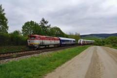 751 195-9 v čele meracieho vlaku GPK|cernovec|337zobrazení|13.05.2020