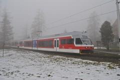 Hmla v Novom Smokovci-Fog in Novy Smokovec Pozor.Vlak 61zobrazen� 21.12.2014