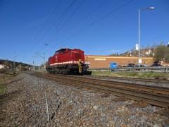 Diesel lokomot�va b�val�ho Reichsbahn Pozor.Vlak 130zobrazen� 20.04.2015