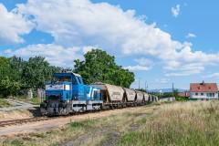 ZSSKC 736.004 s vozňami Uagpps do sila Tajba|Rado|32zobrazení|16.07.2019