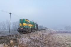 ''Buchar'' 740.148-2 s vozňami na nakládku obilnín |Rado|139zobrazení|12.01.2021