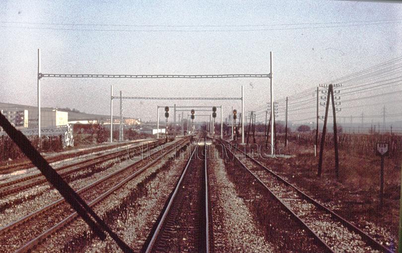Elektrifikácia stanice Jur pri Bratislave.