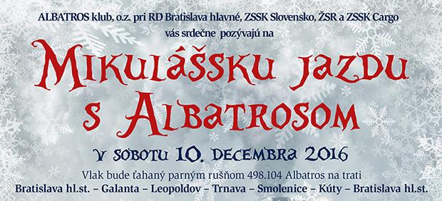 Mikulášska jazda s Albatrosom 10.12.2016