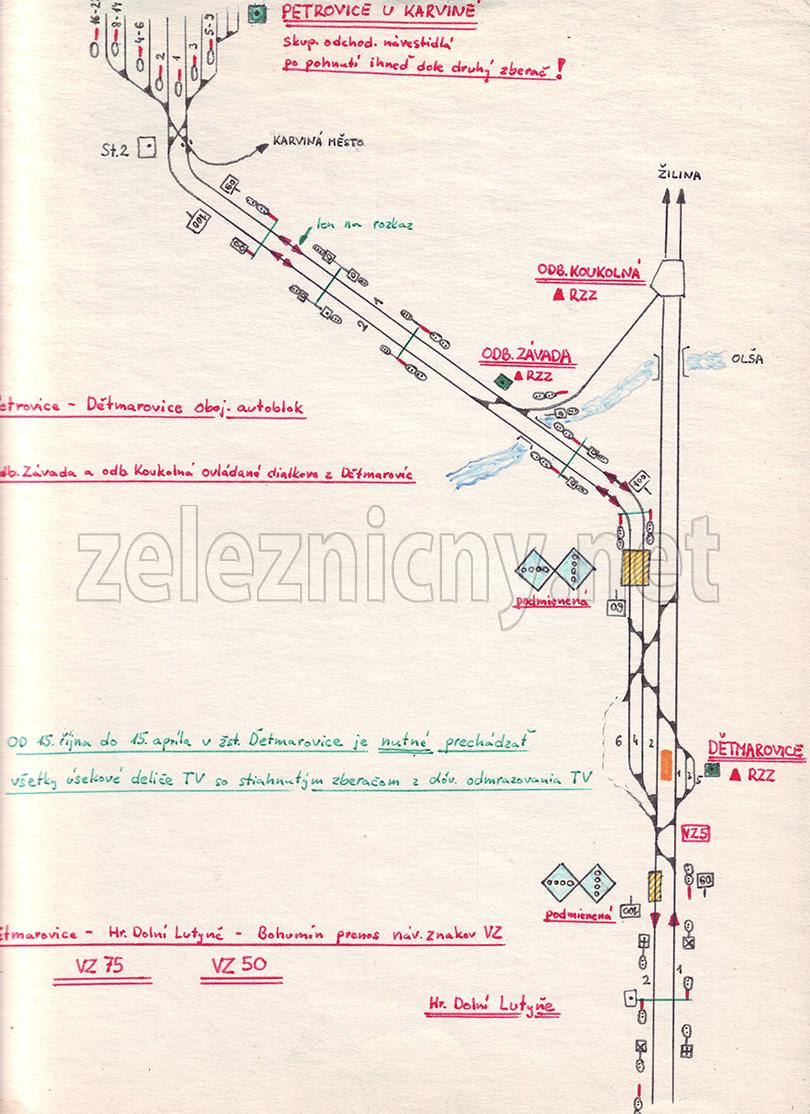 Šiesta časť mapy do Petrovíc.