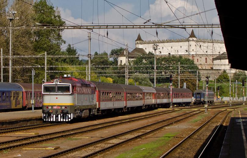 Na čele mimoriadneho vlaku z Dobrej Nivy 12.9.2010 foto Duko