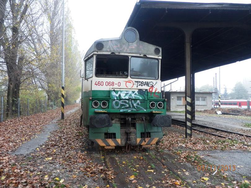 Zrušená 460.068 v RD Košice. 3.11.2013 (Milan)