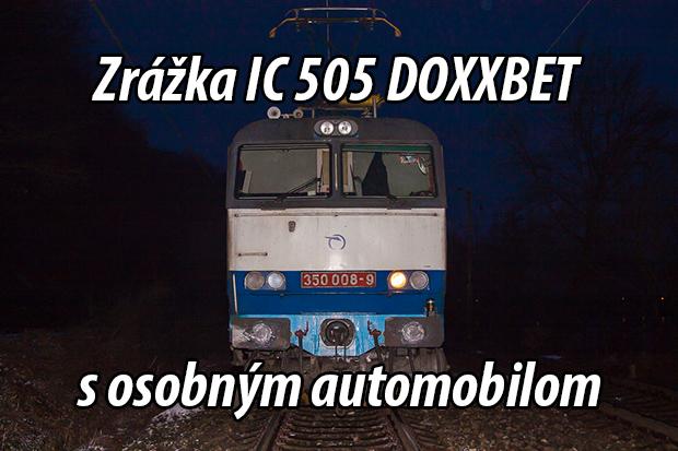 Zrážka IC 505 DOXXBET s osobným automobilom