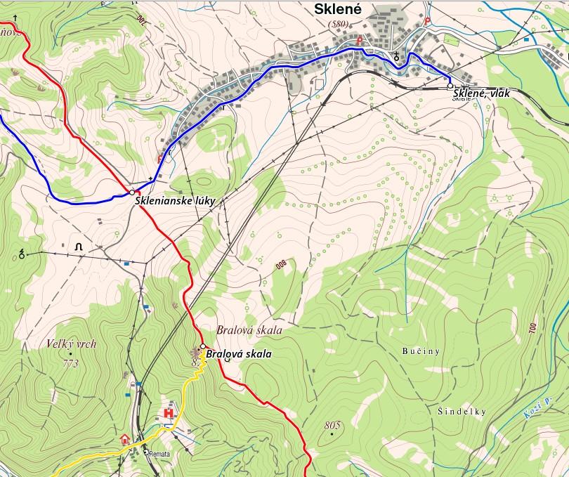 mapa : hiking.sk