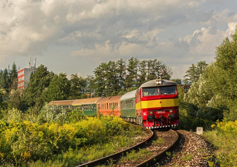 Mimoriadny vlak prichádza do Banskej Bystrice /foto Pafo732/