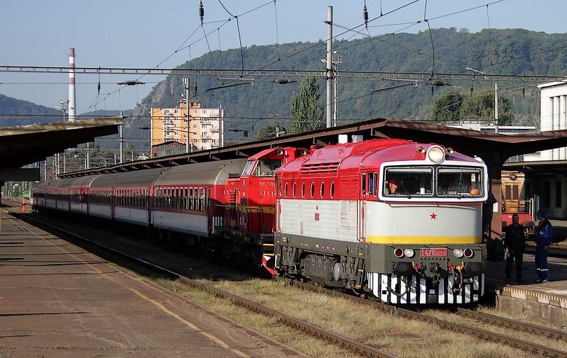 V čele mimoriadneho vlaku do Banskej Bystrice 11.9.2011