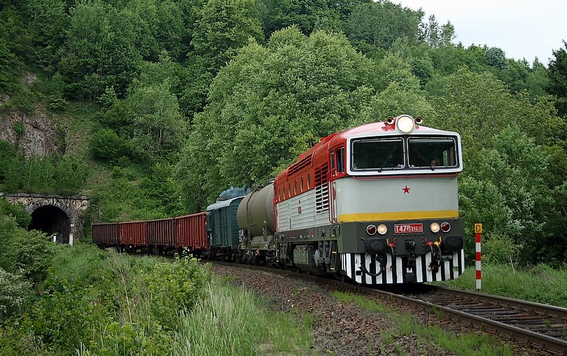 Na čele požiarneho vlaku do Kremnice 2.6.2012