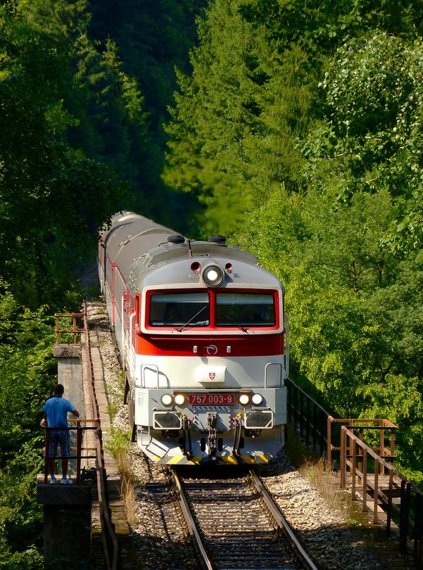 Tomáš práve dofotil Zr 1848 na Uľanskom viadukte, ťahala 757.003. /fotka pridaná s Tomovým súhlasom/