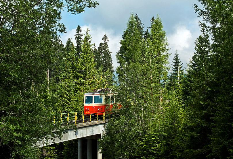 Zubačka na moste ponad hlavnú cestu.(Foto: AladaR)