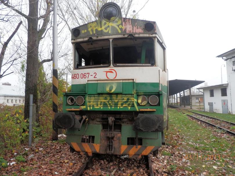 Zrušená 460.067 v RD Košice. 3.11.2013. (Milan)