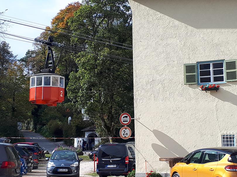Kabína lanovej dráhy Predigtstuhlbahn