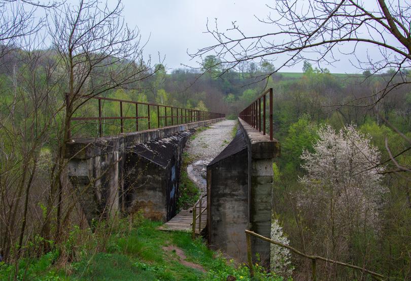 Začiatok viaduktu.