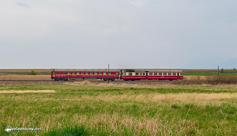 Detail stúpania trate do Hornej a klesania do Dolnej Spišskej Belej.