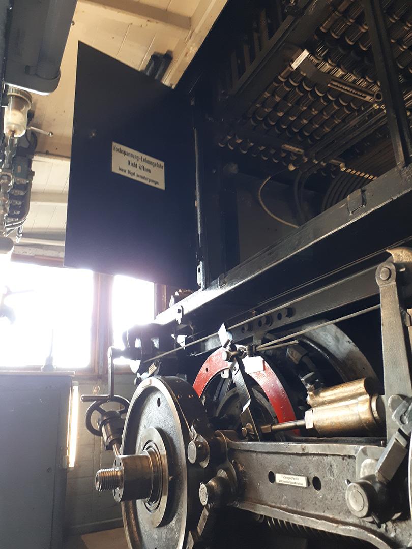 Systém pásových bŕzd a odporníkov rušňa Wendelsteinbahn