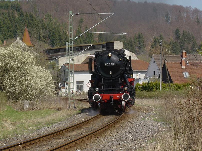 Parná lokomotíva WTB 50,2988 na 18/04/2003 v Immendingen