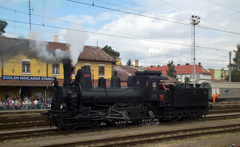Rakúska lokomotíva 17c 372 pri jednej s disciplín