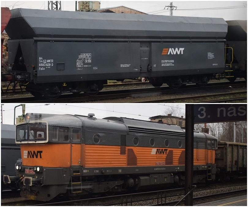 V stanici Hranice na Morave sa mi podarilo zahliadnuť AWT vagóny falls neskôr aj 753 723-4 tak tiež AWT