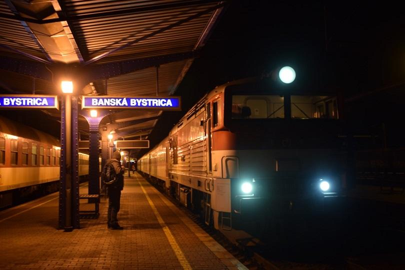 Príchod nášho vlaku do Banskej Bystrice R 347.