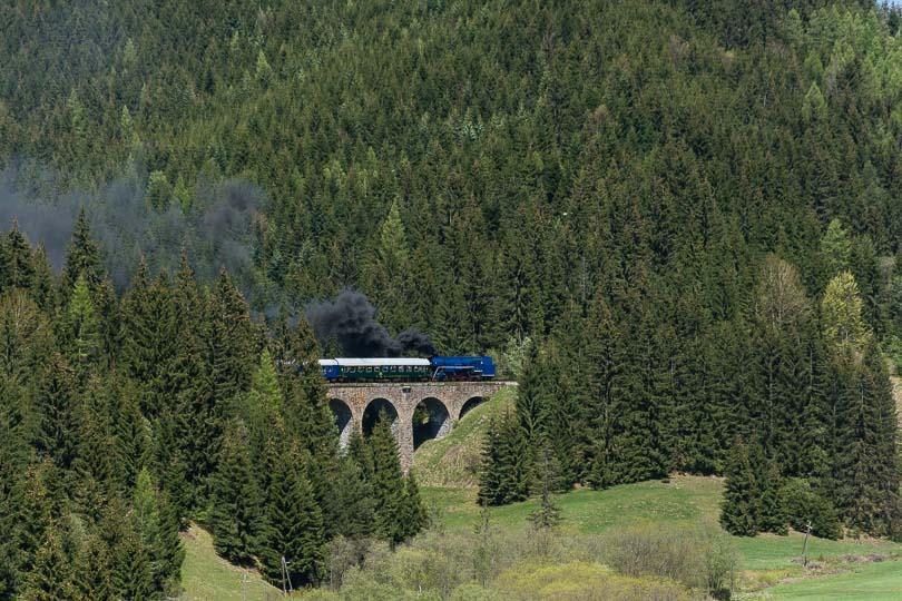 Zadymený vlak na Chmarošskom viadukte(fofo:DjMiscin)