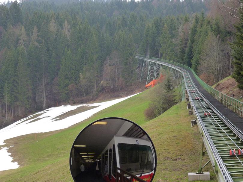 Údolná stanica Hartkaiserbahn – Almweg v roku 2012