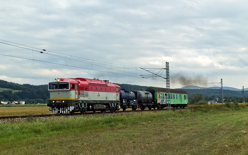 T478.3109 s požiarnym vlakom (pred Hronsekom)