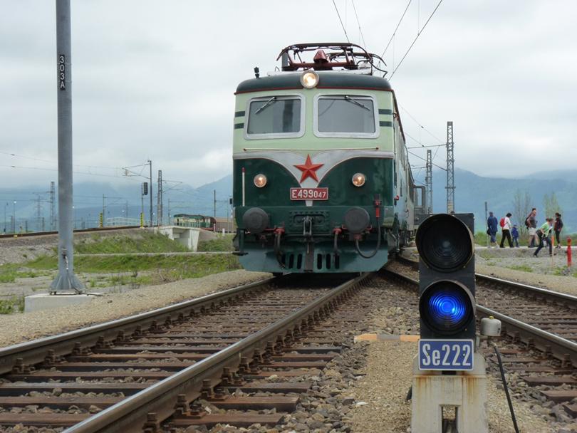 Tu fotím náš vlak pri