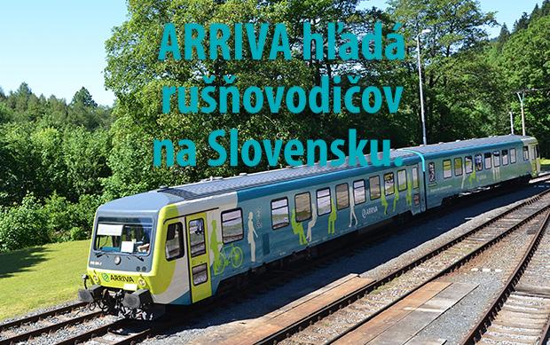 ARRIVA hľadá rušňovodičov na Slovensku. Ponúka im až 1 700 eur