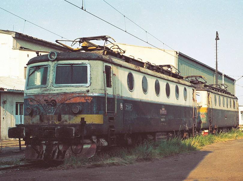 depo v Spišskej Novej Vsi bolo kedysi rajom Bobiniek na zábere E499.005 takisto ešte v prevádzke (leto 1995)