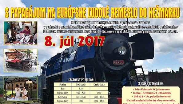 S papagájom na Európske ľudové remeslo do Kežmarku - 8.7.2017