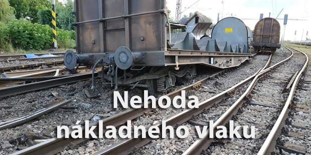 Nehoda nákladného vlaku