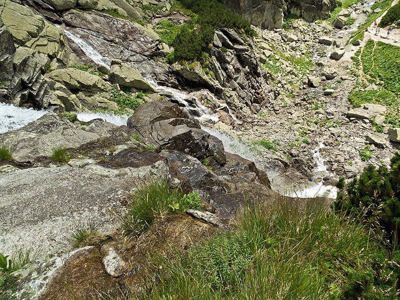 Vodopád Skok z horného pohľadu. (Foto:AladaR)