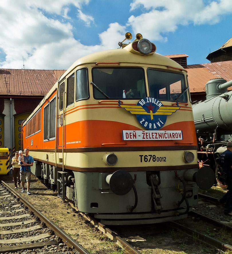 Vystavený bol aj zvolenský pomaranč T678.0012.(Foto:DjMiscin)