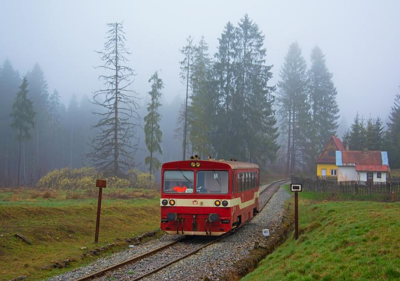 """Taktiež aj v Zbojskej, ktorá bola """"ponorená"""" do hmly."""