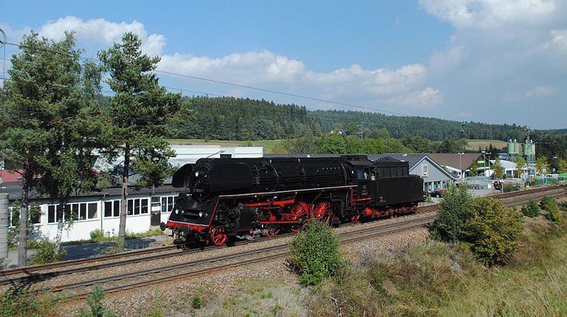 Parná lokomotíva 01,1533 železničnej romantiku na 24/09/2011