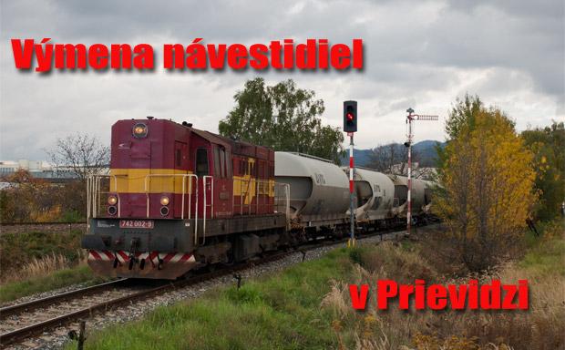 Výmena návestidiel v Prievidzi