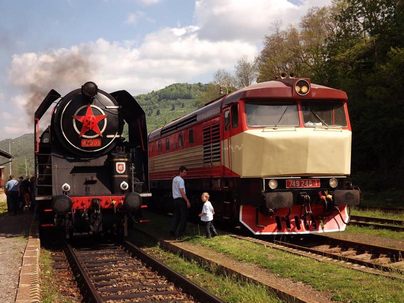 Z parných rušňov alebo dieslovej lokomotívy sa neradovali len dospelí a fotografisti, ale aj najmenší.(Foto:Palo003)