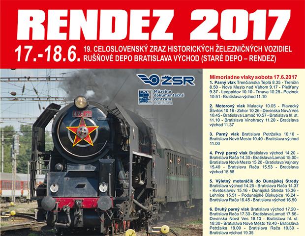 Rendez 2017 - 19. celoslovenský zraz historických železničných vozidiel