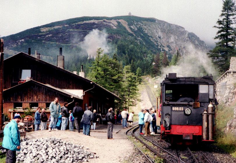 Zubačka na Schneeberg v roku 1993.