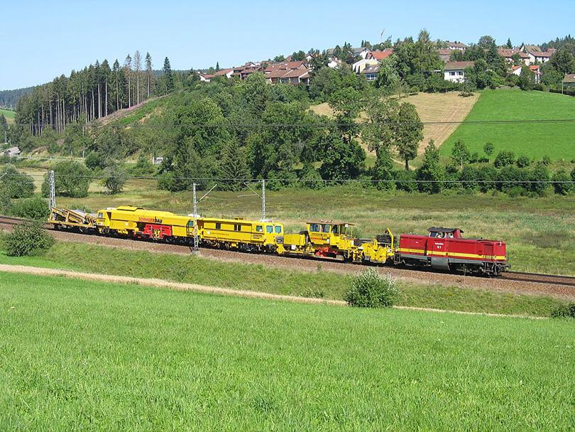 100 V vysoká lesná cesta s výstavbou vlaku Brigach na 05.8.2007