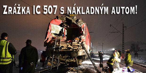 Zrážka IC507 s nákladným autom!