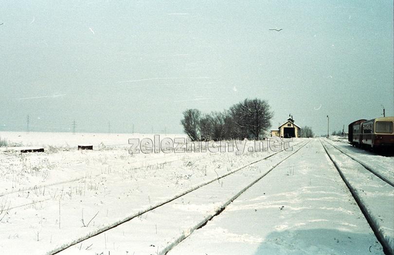 Plavecký Mikuláš v zime 1982.